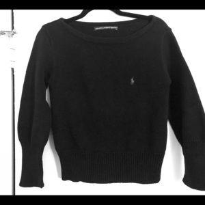 Ralph Lauren sport black Polo boat neck sweater M